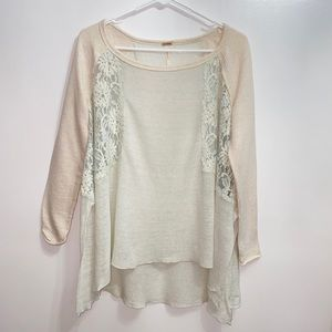 Free People Urban Outfitters XS lace tunic 13B3